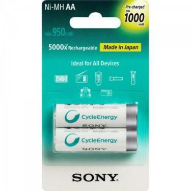 Pilha Recarregavel AA com 2 1000Mah NH-AA B2RN Sony