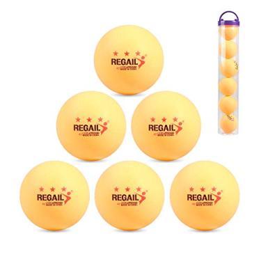 Imagem de yongke Bolas de tênis de mesa 6 peças 3 estrelas 40 mm Bolas de tênis de mesa de plástico ABS super durável Bolas de tênis de mesa Bolas de decoração de tênis de mesa Bolas de pingue-pongue multifunc