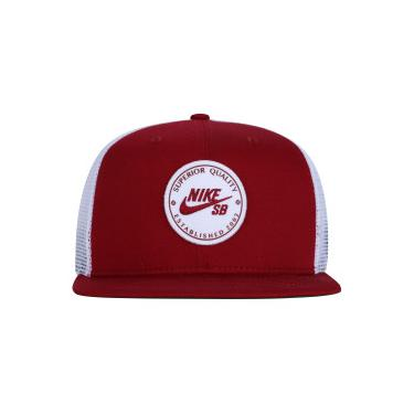 Boné Aba Reta Nike SB Patch - Snapback - Trucker - Adulto - VERMELHO BRANCO  Nike 64713f1d6a2