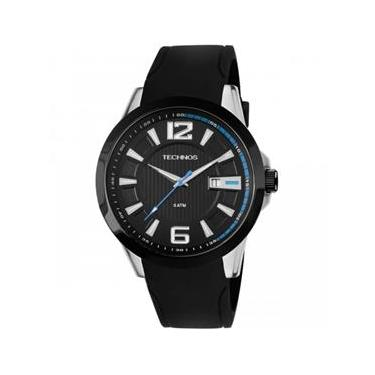 b61ff6c22f3 Relógio Masculino Technos Performance Racer 2115KNW 8P 45mm Silicone