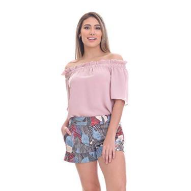 Short Clara Arruda Alfaiataria Estampado 30042 - P - Multicolorido