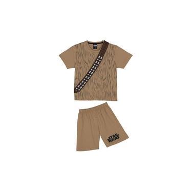 Pijama Infantil Star Wars Chewbacca Disney Lupo Marrom