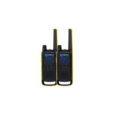 Rádio Comunicador Motorola Talkabout  T470BR, 22 canais, 35KM, Lanterna, IPX4, Preto/Amarelo - 71670