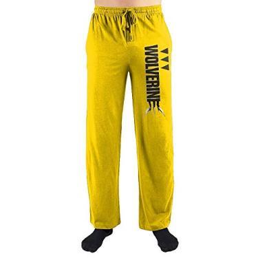 Calça de dormir Wolverine X-Men da Marvel, Amarelo, XXL