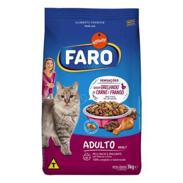 Ração Affinity Faro Grelhado de Carne e Frango para Gatos Adultos - 3 Kg