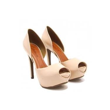 37b3c7f7d0 Sapato Feminino Peep Toe Bebecê Shoptime