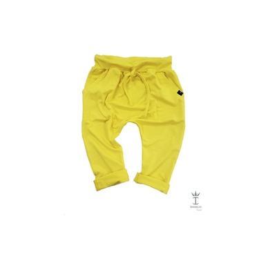 Calça Infantil Saruel Malha Amarelo Menino Índigo Trend