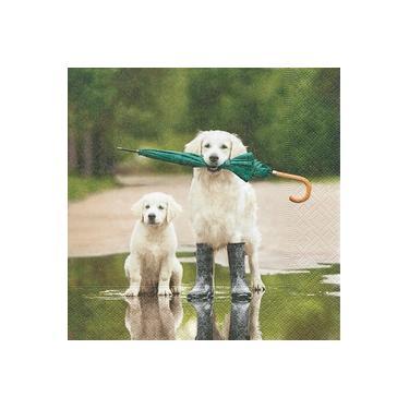 Guardanapo de Papel Decorado Cachorro 33x33cm c/20 Importado