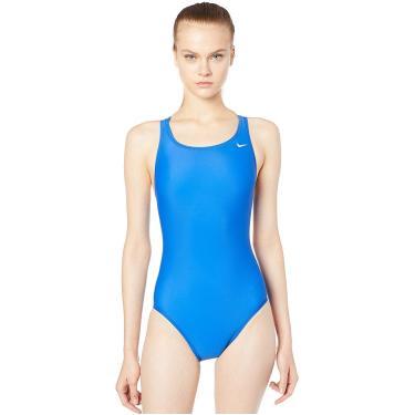 Maiô Performance Fastback One Piece Nike Mulheres M Azul