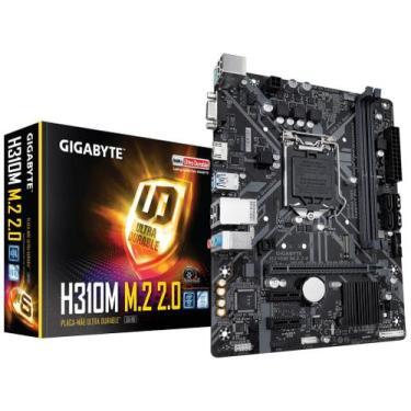 Placa Mãe Gigabyte H310M M.2 2.0 Intel - LGA 1151 DDR4 Micro ATX
