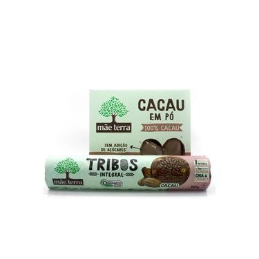 Kit Cacau - Mãe Terra - Biscoito Integral e Orgânico de Cacau e Cacau em Pó
