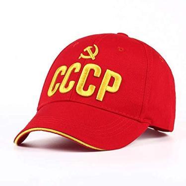 Imagem de Boné VORON CCCP URSS do Russo Venda Quente Cap snapback algodão Boné de Beisebol Estilo Unisex preto Vermelho com 3D bordado a Melhor qualidade garros (Vermelho)