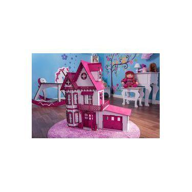 Imagem de Casa de Bonecas Escala Polly Modelo Anne Sonhos Com Garagem - Darama