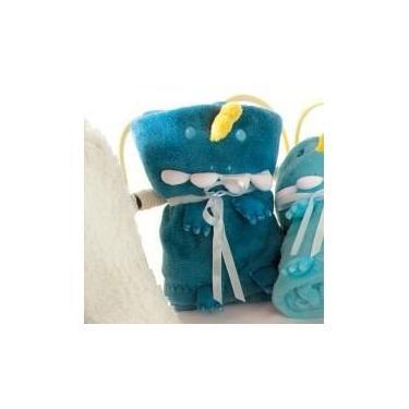 Manta Dino Flannel Azul 75x100cm - A/BABY