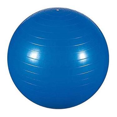 Imagem de Bola de Yoga Azul 65cm com Bomba Para Yoga Pilates Fisioterapia