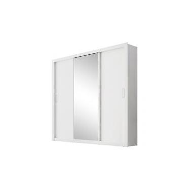c608cd47f Guarda-roupa Casal 3 Portas De Correr 2 Gavetas - Demóbile Residence com  Espelho