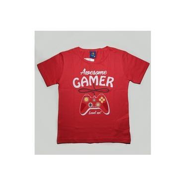 Camiseta Masculina MC Estampada Vermelha