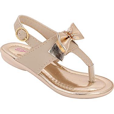 Sandália Docinho Plis Calçados Marfim  menina