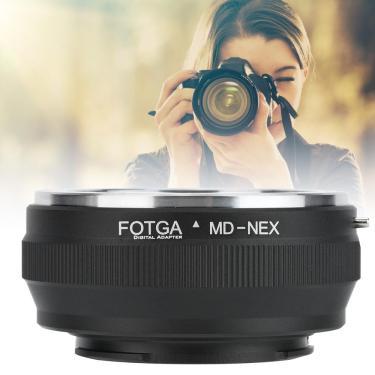 Imagem de Anel adaptador de lente de fotga para minolta md, para encaixe com câmera sony nex sem espelho, para
