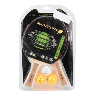 Kit Para Tenis De Mesa Gold Sports - Training Com 2 Raquetes 3 Bolas -  Unissex 8528c47d7cf61