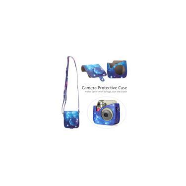 Imagem de Bolsa de ombro com capa protetora para câmera vintage pu para câmera instantânea mini7s / 7c