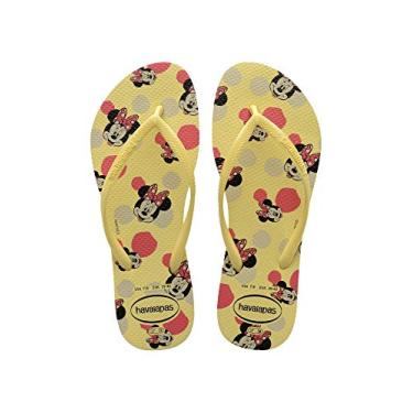 Chinelo Slim Disney, Havaianas, Meninas, Amarelo Limao, 25/26