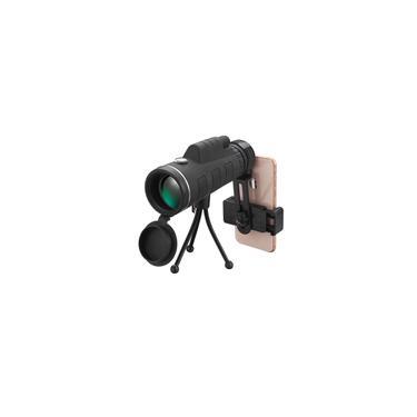 40x60 BAK4 Monocular HD Optical Low Light Night Vision Telescópio Com Suporte Do Telefone Clipe Tripé Acampamento Ao Ar Livre