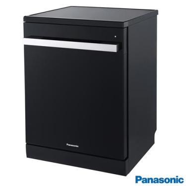 Imagem de Lava-Louças Panasonic Preta com 15 Serviços, 08 Programas de Lavagem e Painel Digital Easy Touch - NP-6M1MBKBRP
