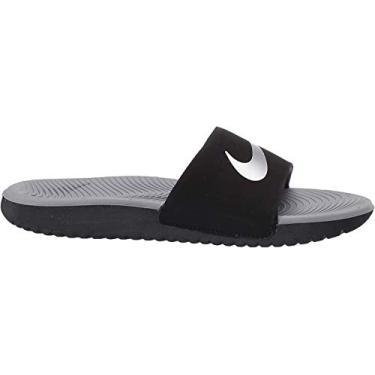 Imagem de Nike Unisex-Kid's Kawa Slide (GS/PS) Sandal, Black/Metallic Silver-Particle Grey, 2Y Youth US Little Kid