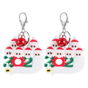 Imagem de BESPORTBLE Tema de Natal Escola Chaveiro Saco Acessórios Chave Do Carro Anel Chave Do Padrão Do Boneco de Neve Da Árvore de Natal Ornamentos 6PCS