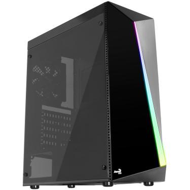 Gabinete Gamer Aerocool Shard Acrylic - RGB - Lateral em Acrílico - Mid Tower - 67989