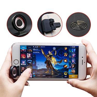wudidianzi Joystick para jogo de celular, botão de disparo de jogos, mini controle antiderrapante para smartphone gamepad para iOS e Android PC