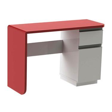 1cd02ed37 Escrivaninha Office Click 1 Gaveta Branca e Vermelha Olivar