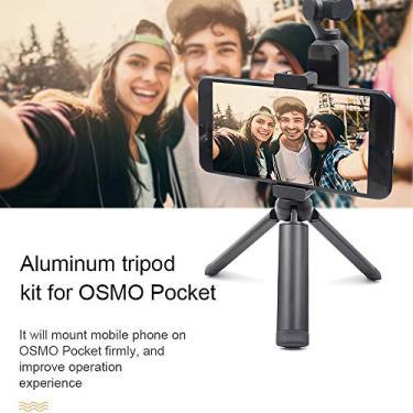 Goolsky STARTRC OSMO Pocket Handheld Tripé de Alumínio Tripé de Montagem de Suporte De Telefone Móvel de Alumínio com Cabo USB para DJI OSMO Bolso Adequado para o iPhone iOS Sistema