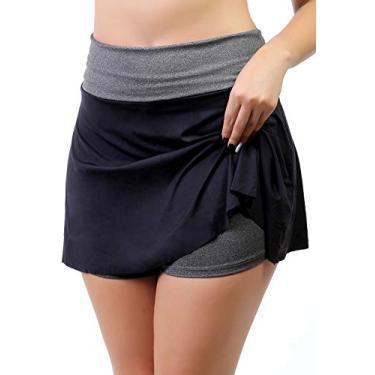 Short Saia Fitness Feminino (Preto, GG)
