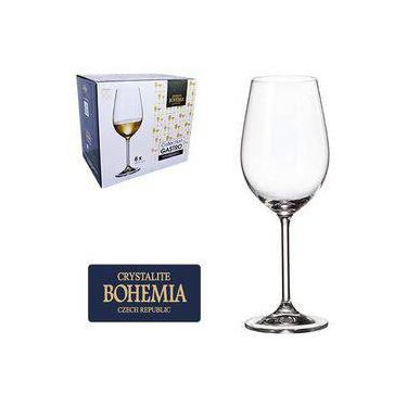 Jogo De Taca De Cristal Para Vinho Branco Com 6 Unidades Gastro Bohemia 350ml