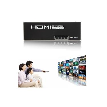 HDTV 5 Port Selector Splitter Switch Switcher 1080 P Para Ps4 X-boxone Monitor Controle Remoto