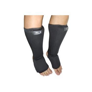 Caneleira protetor de canela Combate Muay artes marciais c/ protetor de pé tkd mma