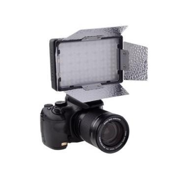 Iluminador Led CN-140 Video Light DV com Bateria Interna para Câmeras e Filmadoras