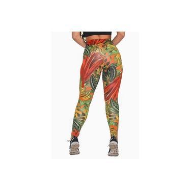 Imagem de Calça Legging Fitness Estampada Colorful Feminino GR Esporte