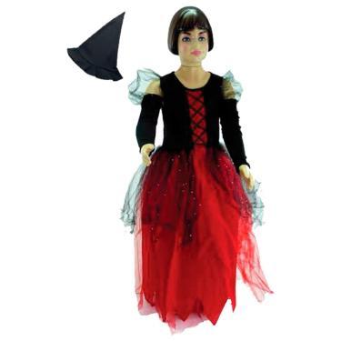 Imagem de Fantasia de Bruxa Infantil Luxo Com Chapéu Badlovely