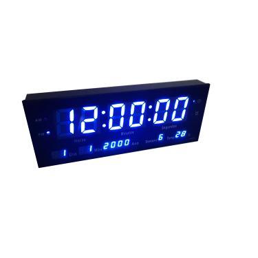 969647dc96d Relógio De Parede Grande Led Digital Alarme Br - Azul 33cm