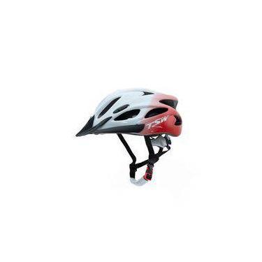 Capacete Para Ciclista Mtb Tsw Raptor 1 Com Led Traseiro Tamanho M 54/58 Cm Com Regulagem