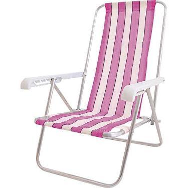 Cadeira de Praia 4 Posições Alumínio CAD0641 Botafogo Sortida