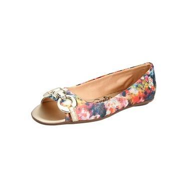 Peep Toe Bailarinas Urbanas Floral