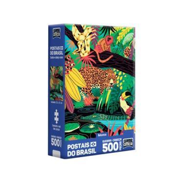 Imagem de Quebra-Cabeça 500 Peças Postais Do Brasil - Game Office Natureza Toyst