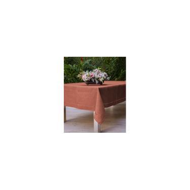 Imagem de Toalha de Mesa Retangular Casa Argivai Glamour Coral 8 Lugares 1,60m x 2,60m