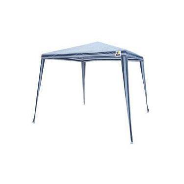 2de771905991e Tenda Gazebo Branca Azul em Polietileno 3X3 Metros Desmontável 301250 BELFIX
