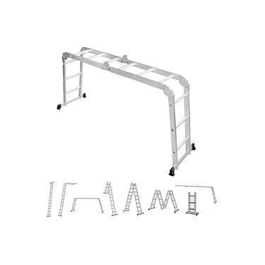 Escada Multifuncional Alumínio 4x4 16 Degraus Worker