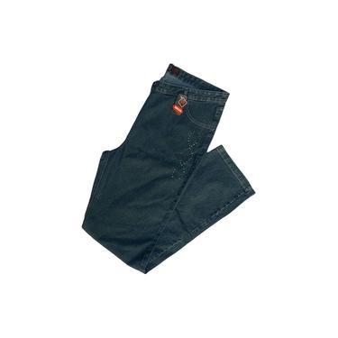Calça Jeans Feminina Verde Plus Size